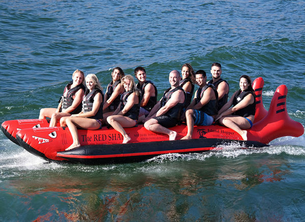 Picture of Island Hopper Red Shark Heavy Commercial Banana Sled - 10 Person