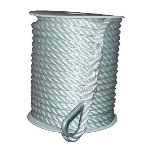 """Picture of Anchor Line 3/8""""x150' -Twisted Nylon"""