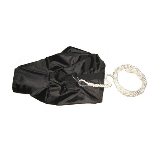 black bag with Nylon rope for anchoring aquaglide products