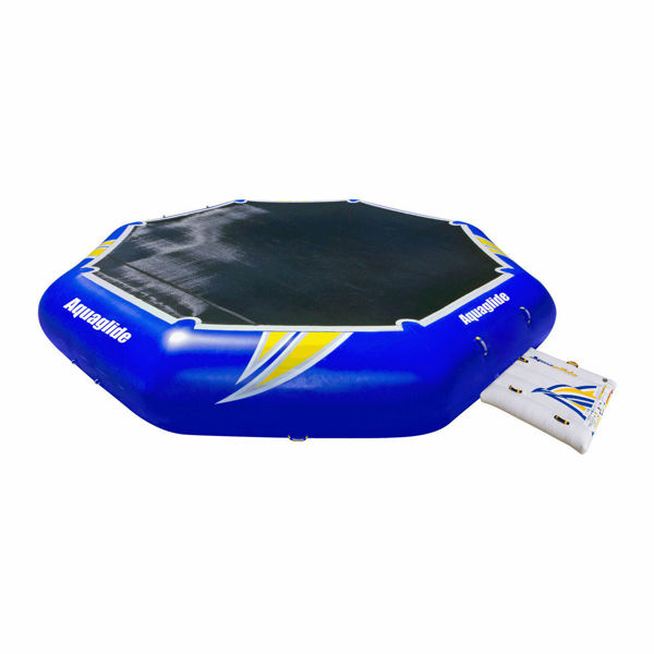 inflatable trampoline with attached platform