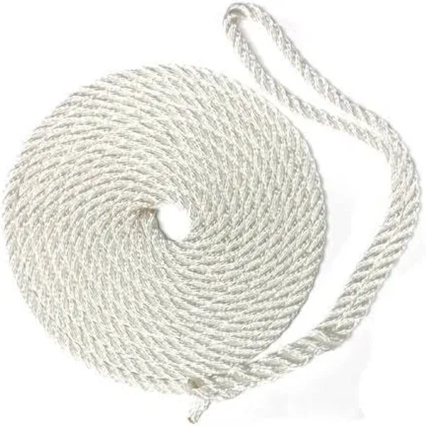 """Picture of Dock Line 1/2""""X 15' - Twisted Nylon"""